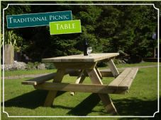 Traditional Garden Picnic Table 1.8m long Pressure Treated PAR
